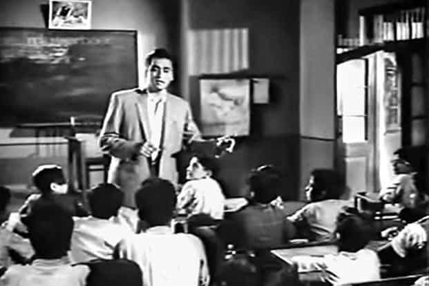 Sunil Dutt in a still from the movie 'Didi'.