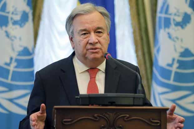 A file photo of United Nations (UN) chief Antonio Guterres. Photo: AP