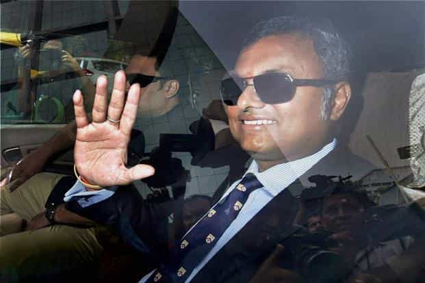 The CBI had issued a notice to Karti Chidambaram to appear for questioning in June but he had sought more time. Photo: PTI