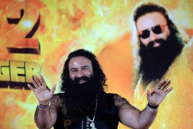 Dera Sacha Sauda chief Gurmeet Ram Rahim Singh 'Insan' was found guilty in two rape cases by the special CBI court on Friday. Photo: AFP