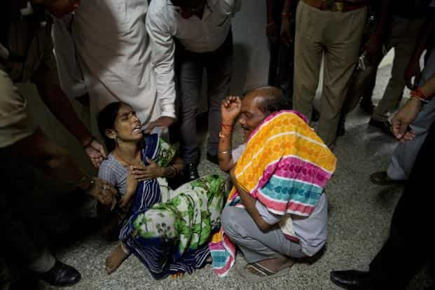 Of all the deaths in BRD Medical College over the past three days, the highest number have been in the neonatal category. Photo: AP