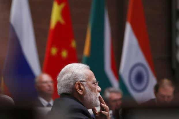 Addressing the plenary session, Modi stresses on strengthening trade and economy, which he said are the foundations of cooperation among Brics nations. AP