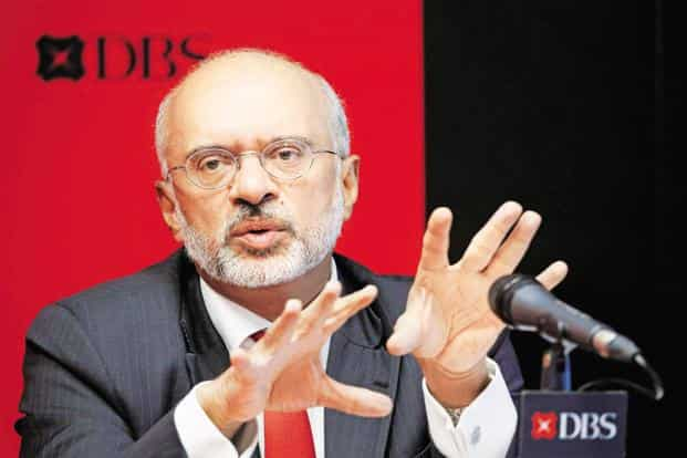 DBS Group CEO Piyush Gupta has said DBS Bank will convert to the wholly owned subsidiary model within a year. Photo: Reuters