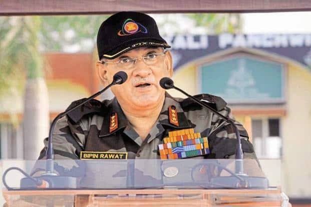 A file photo of Army chief Gen. Bipin Rawat. Photo: Hindustan Times