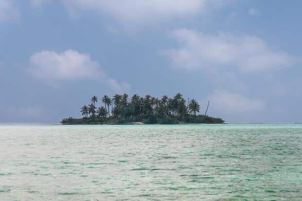 A file photo of an uninhabited Lakshadweep island. Representational image. Photo: iStock
