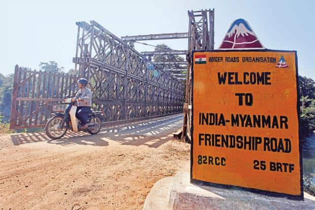 The India-Myanmar-Thailand Trilateral Highway will run from Moreh in Manipur to Mae Sot in Thailand via Myanmar. Photo: Reuters