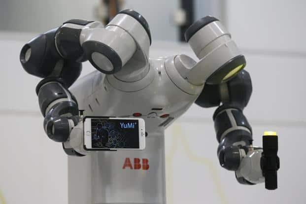A file photo of YuMi robot. Photo: Reuters