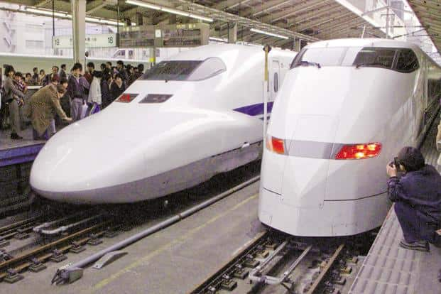 Japan PM Shinzo Abe and PM Narendra Modi will inaugurate the Ahmedabad-Mumbai bullet train project in the Gujarat city on Thursday. Photo: Reuters