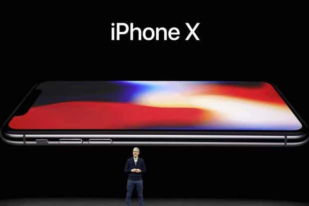 The long-anticipated iPhone X unveiled on Tuesday will sell for $999, double what the original iPhone cost a decade ago and more than any other competing device on the market. Photo: AP