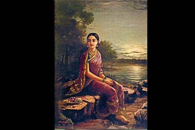 'Radha in the Moonlight' by Raja Ravi Varma.