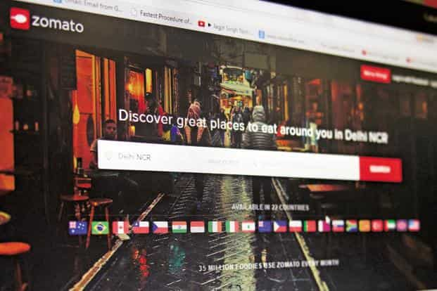Zomato's sales grew 80% to $49 million in 2016-17, owing to growth in the advertising and the food delivery business. Photo: Mint