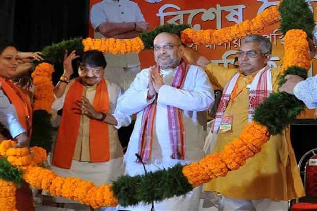 BJP president Amit Shah last week set his party's rank and file in West Bengal a target of 15 million votes in the 2019 Lok Sabha elections. Photo: PTI
