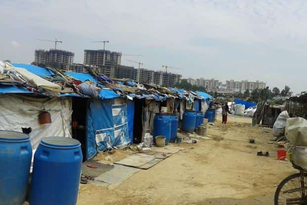 A 2015 file photo of a settlement in Hebbal, Bengaluru. Photo: Rahul Chandran