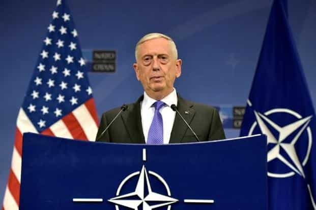 The visit of US Secretary of Defence Jim Mattis is the first cabinet-level visit to India under the Trump government. File photo: Eric Vidal/Reuters