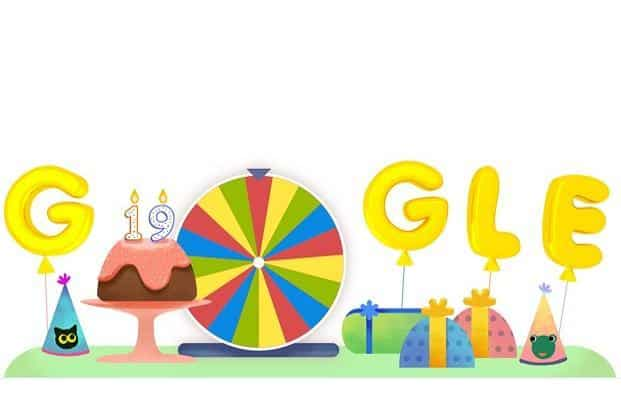 googles 19 birthday Google's 19th birthday doodle: But we don't know whose birthday it is googles 19 birthday