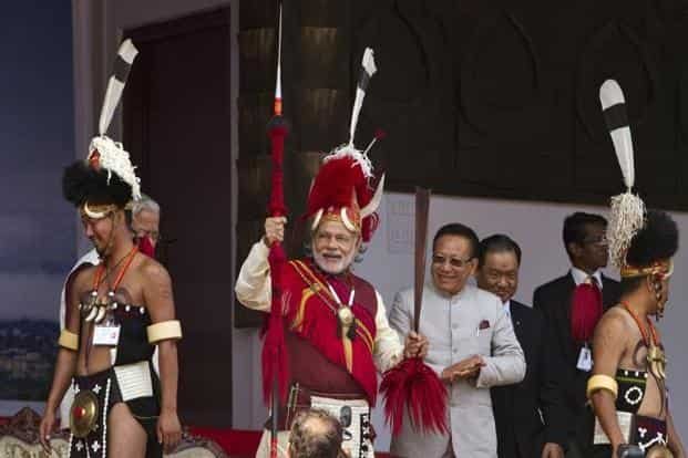 A showy 'Framework Agreement' was signed in August 2015 in the presence of Narendra Modi by Ravi and the Naga's general secretary, Thuingaleng Muivah. File photo: AP
