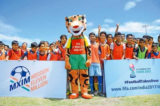 Kheleo, mascot for the Fifa Under-17 World Cup. Photo: LOC, FIFA U-17 World Cup India, 2017