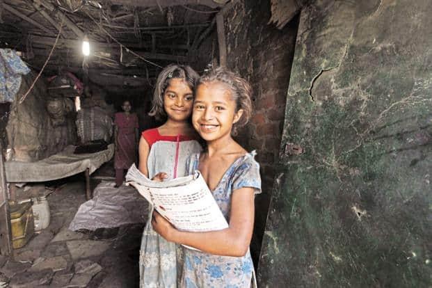 Children in Shahbad Dairy slum in Delhi. Education projects attracted the maximum CSR spend in fiscal year 2017. Photo: Raj K. Raj/HT
