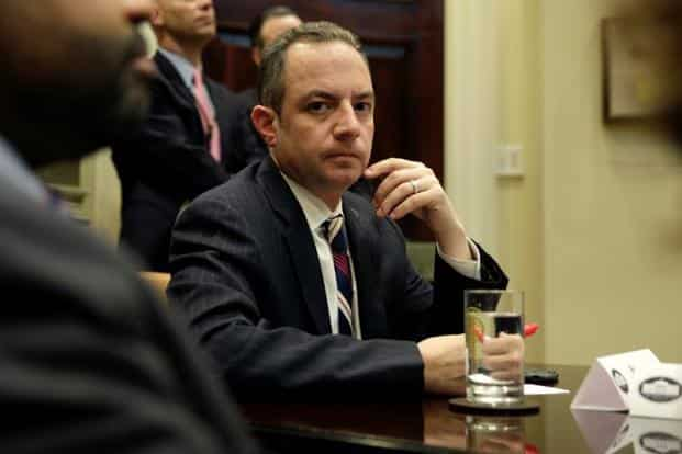 Reince Priebus was replaced by John Kelly as Donald Trump's chief of staff in July. Photo: Reuters