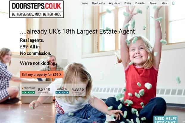 This week 'doorsteps.co.uk' became the 18th biggest estate agency in the UK—just 16 months after the website went live.