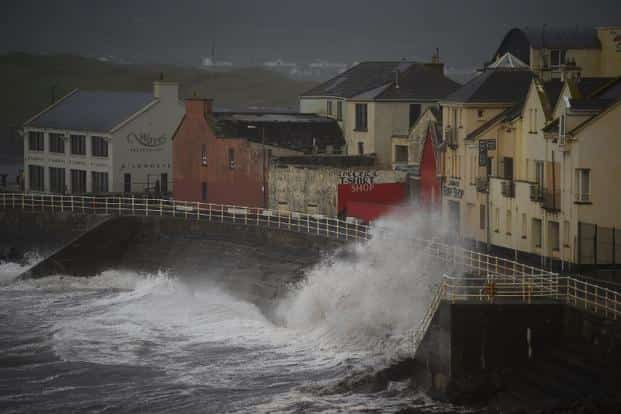The storm, downgraded from a hurricane overnight, was the worst to hit Ireland in half-a-century. Photo: Reuters