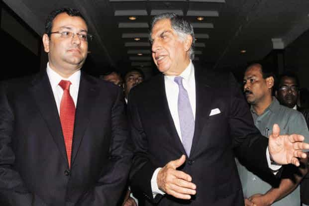 Ratan Tata (right) and Cyrus Mistry. Photo: PTI