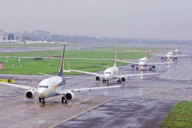 India's current air passenger traffic is about 141 million. Photo: HT