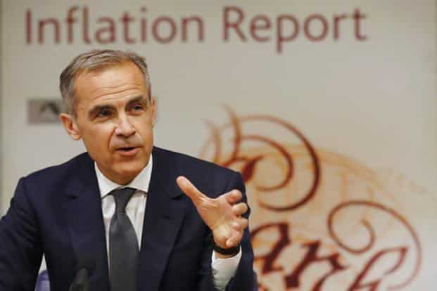Bank of England governor Mark Carney. BOE policymakers showed concern for Britain's Brexit-dented economy by indicating that another increase isn't imminent. Photo: AP