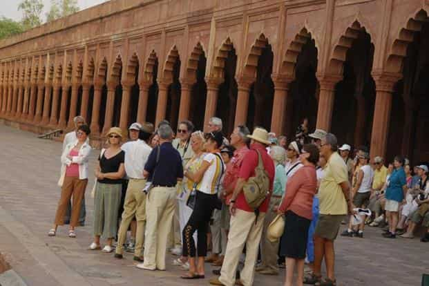 Tourists in Agra. Recently, a Swiss couple had been badly beaten up by a group of young men in Fatehpur Sikri. Photo: Mint