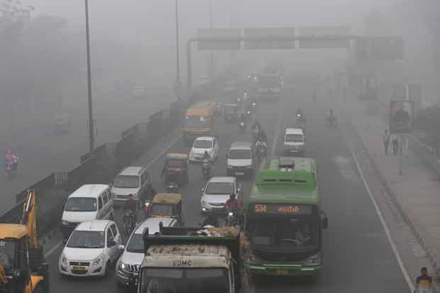 The EPCA has banned all civil construction and demolition activities in Delhi and stalled entry of trucks in the national capital, except those carrying essential commodities. Photo: AFP