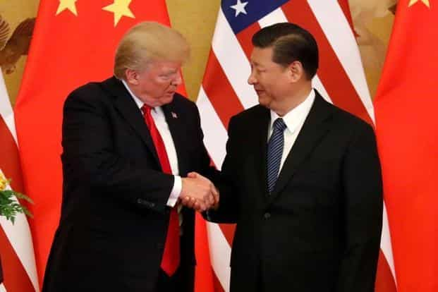 Donald Trump went so far as to call Xi Jinping a 'very special man' in a joint briefing on Thursday. Photo: Reuters