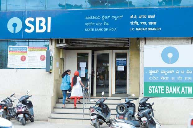 Fresh slippages at SBI fell to Rs9,026 crore from a massive Rs26,249 crore in the previous quarter. Photo: Hemant Mishra/Mint