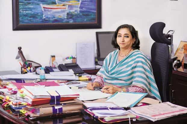 CBEC chairperson Vanaja Sarna. The GST Council, in its Guwahati meeting on 10 November, announced GST rate cut for 178 items, leaving only 57 products in the top tax slab of 28%. Photo: Pradeep Gaur/Mint