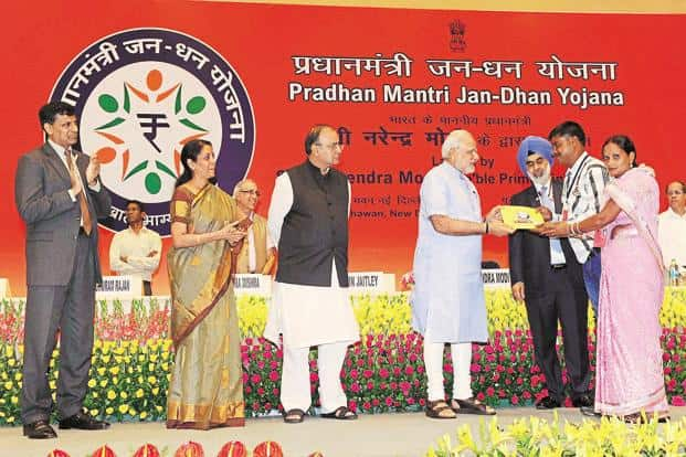 File photo. Jan Dhan Yojana accounts build balances over time that are economically meaningful for poor households. Photo: PIB
