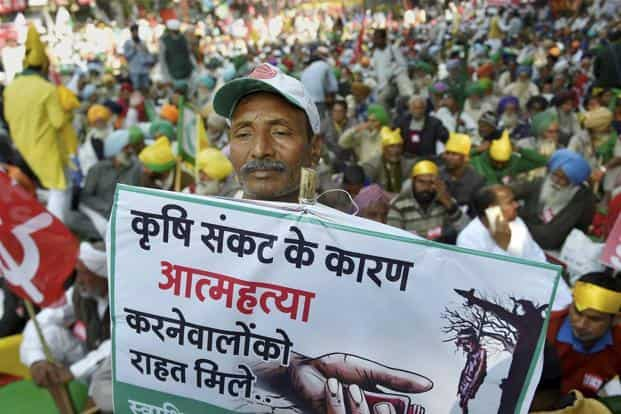 The farmers' protest is the latest challenge for Prime Minister Narendra Modi who promised to double farm incomes by 2022 and ensure a 50% profit over the cost of production. Photo: PTI
