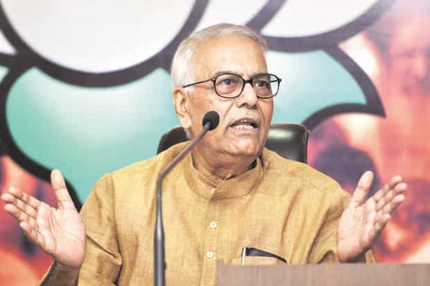 File photo. On demonetisation, BJP leader Yashwant Sinha said no rich people suffered hardship and it was the poor who stood in the queues and lost their lives. Photo: HT