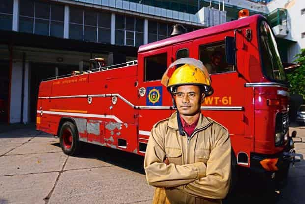 How a firefighter spends his Diwali, and every other day