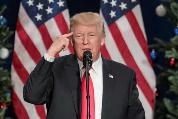 A file photo of US President Donald Trump. Photo: AFP