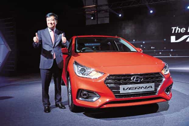 Hyundai has also strengthened exports with dispatch of 2,022 units of Verna to the Middle East market. Photo: Pradeep Gaur/Mint