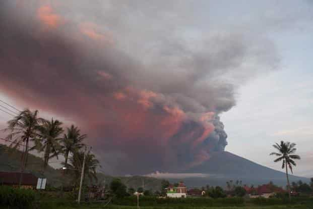 The erupting volcano had closed the airport for much of this week, stranding thousands of visitors from Australia, China and other countries, before the winds changed and flights resumed. Photo: Reuters