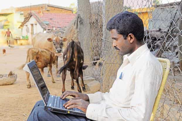BharatNet project aims to deliver high-speed broadband to all 250,000-odd village panchayats in Rural India. Photo: Hemant Mishra/Mint