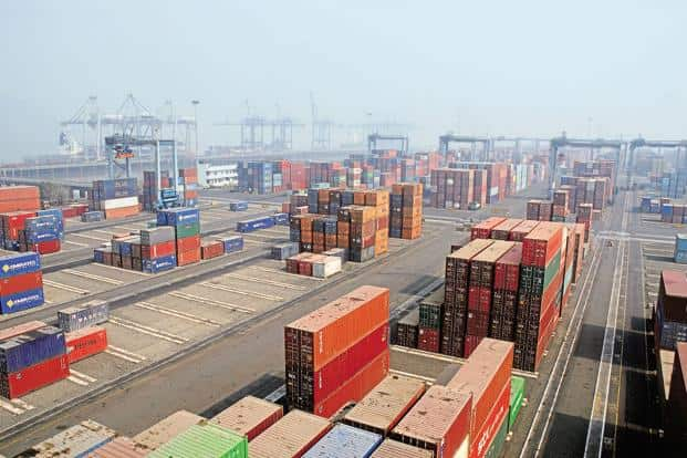 Indian exports dipped for the first time in 15 months in October, falling 1.1% to $23.1 billion. Photo: Mint