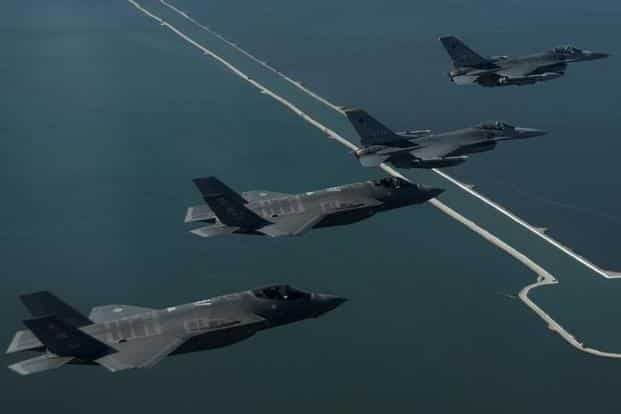 Sales by Lockheed Martin, the world's biggest arms producer, climbed 10.7%, driven largely by deliveries of its F-35 fighter jet. Photo: Reuters