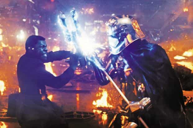 A still from Star Wars: The Last Jedi. Chinese smartphone maker OnePlus and automaker Tata Motors are among the firms that have tied up with Disney ahead of the film's release in India. Photo: Reuters