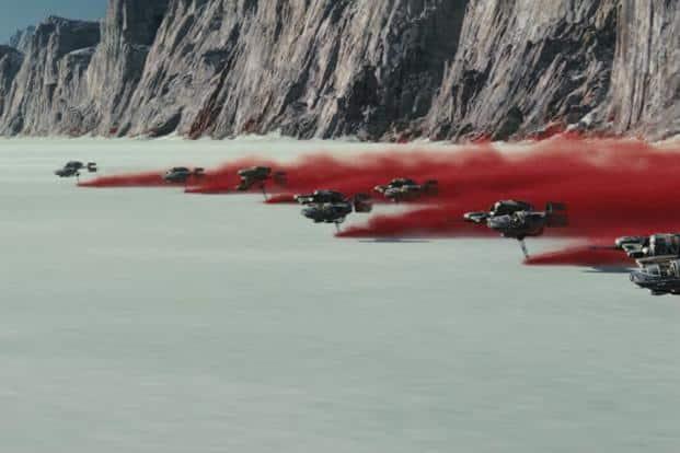 A still from 'Star Wars: The Last Jedi'.