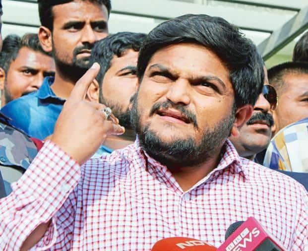 PAAS convener Hardik Patel in Ahmedabad on Monday. Photo: PTI