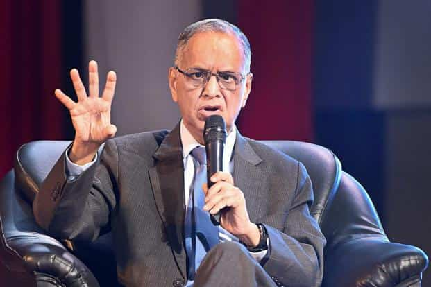 Speaking at IIT Bombay's Mood Indigo event, Infosys co-founder N.R. Narayana Murthy criticized the high salary hike that senior managements in the IT industry have been apportioning themselves. Photo: PTI
