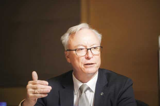 Mercedes-Benz India MD and CEO Roland Folger. File photo: Mint