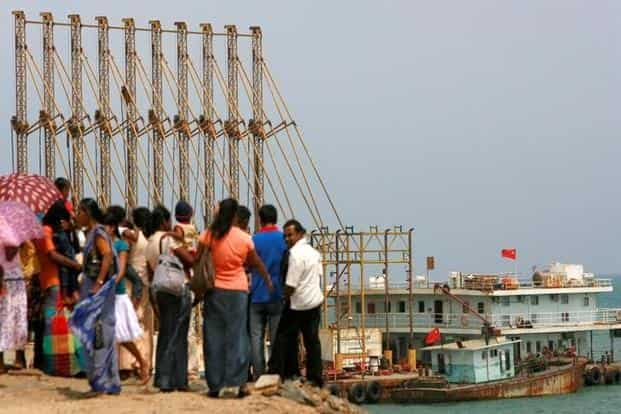 A file photo of the Hambantota port in Sri Lanka. Rather than offering grants or concessionary loans, China provides huge project-related loans at market-based rates. Photo: Reuters