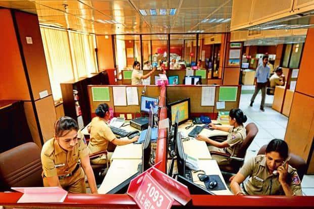The police control room (PCR) at the Delhi Police headquarters. Photo: Pradeep Gaur/Mint